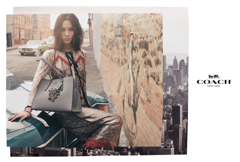 Kiko Mizuhara fronts Coach fall-winter 2018 campaign
