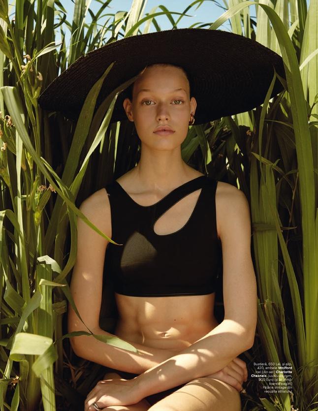 Cosima Fritz Models Vacation Styles for Harper's Bazaar Romania