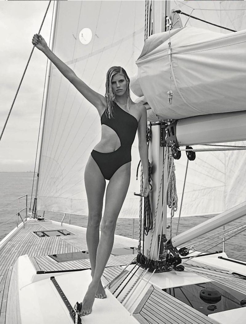 Devon Windsor Models Nautical Style for Vanity Fair Italy