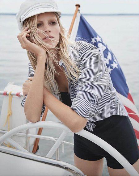 Devon Windsor Models Nautical Style for Vanity Fair Italy