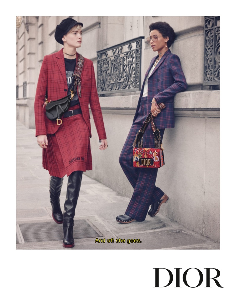 Dior focuses on tartan prints for fall-winter 2018 campaign