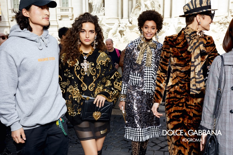 Dolce & Gabbana focuses on bold prints for fall-winter 2018 campaign