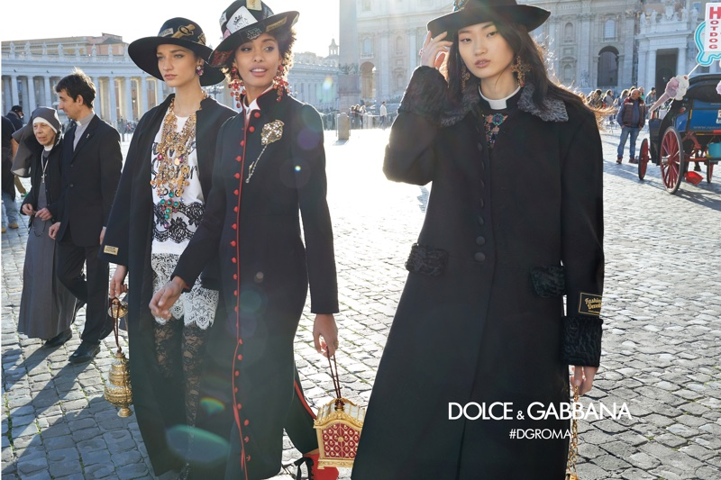 An image from Dolce & Gabbana's fall 2018 advertising campaign