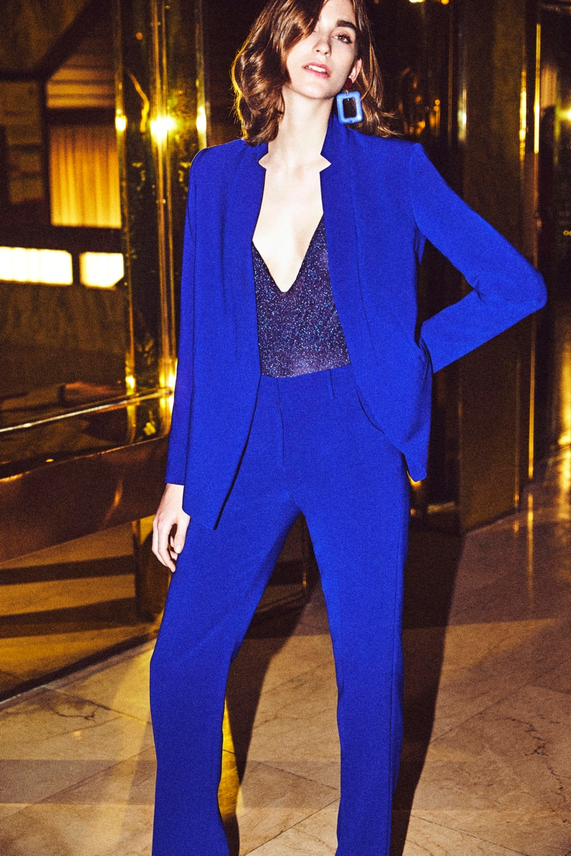 Lucía Millet suits up in Dolores Promesas fall-winter 2018 campaign