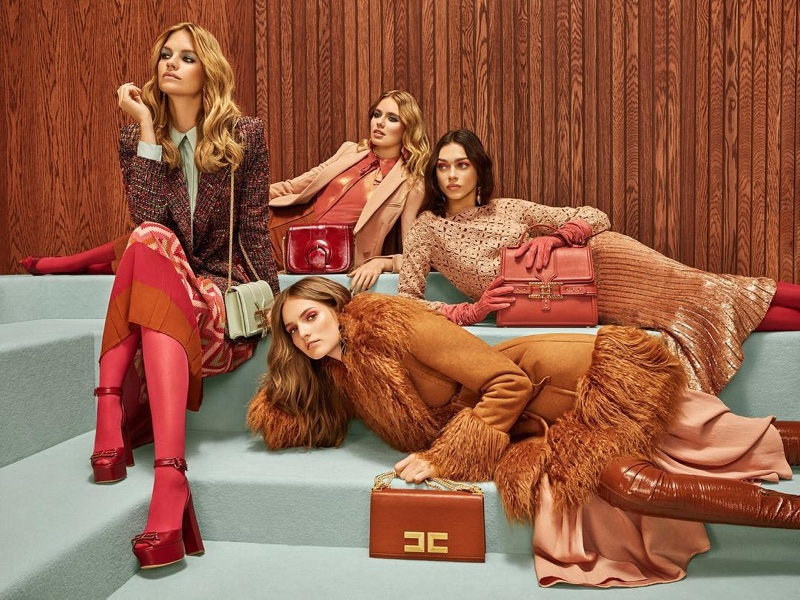 An image from Elisabetta Franchi fall 2018 advertising campaign