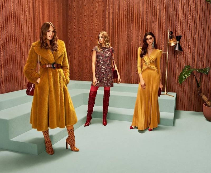 1970's style takes the spotlight in Elisabetta Franchi fall-winter 2018 campaign