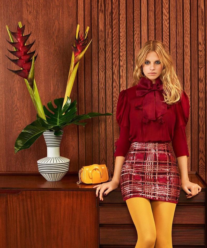 Nadine Leopold stars in Elisabetta Franchi fall-winter 2018 campaign