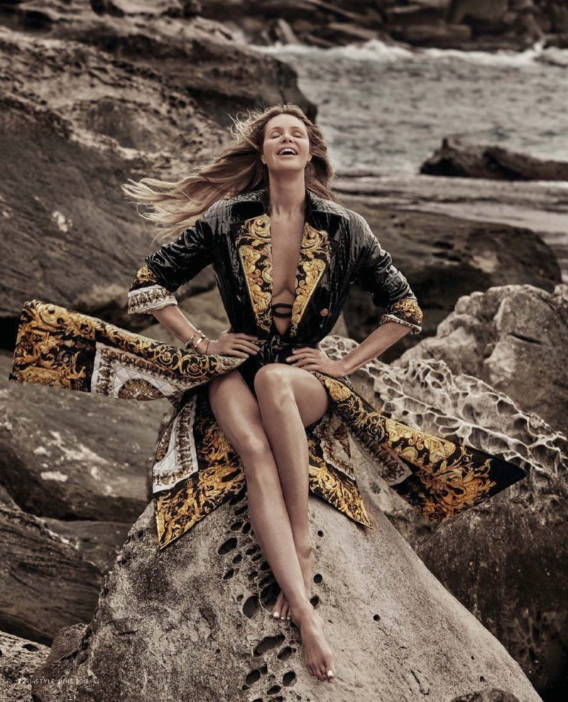 Elle Macpherson is a Beach Beauty for InStyle Australia