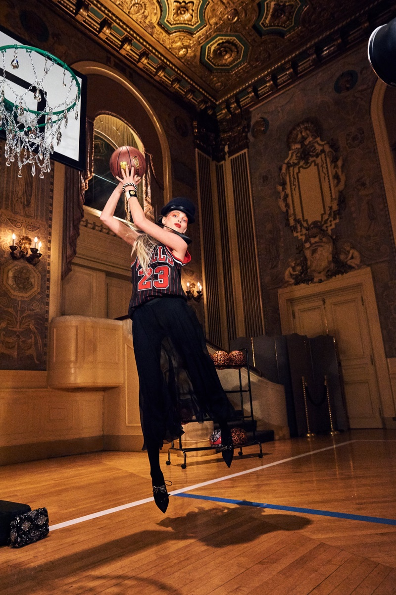 Elsa Hosk Plays 'Baroque Basketball' for Paper Magazine