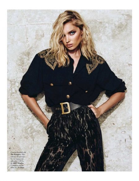 Elsa Hosk Models Chic Fall Styles for ELLE Spain