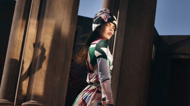 Lily Stewart Stands Out in Emilio Pucci Fall 2018 Campaign