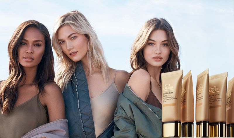 Joan Smalls, Karlie Kloss and Grace Elizabeth front Estée Lauder Double Wear Makeup campaign