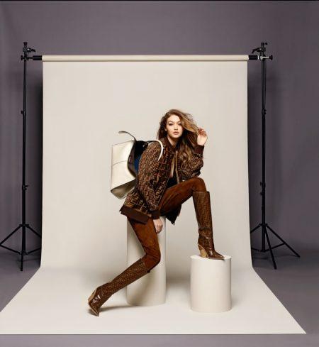 Gigi Hadid fronts Fendi fall-winter 2018 campaign