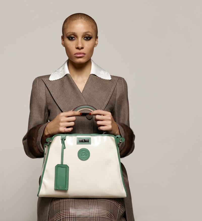 Model Adwoa Aboah appears in Fendi fall-winter 2018 campaign