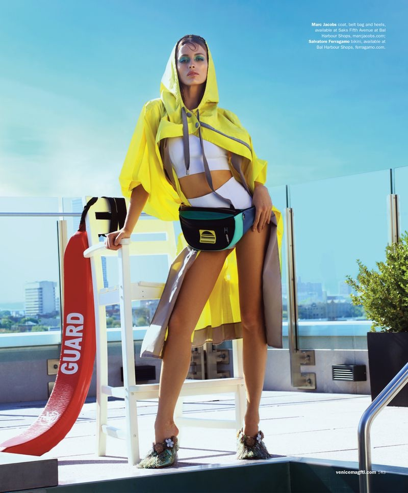 Flavia Lucini Goes Poolside in Bold Looks for Venice Magazine