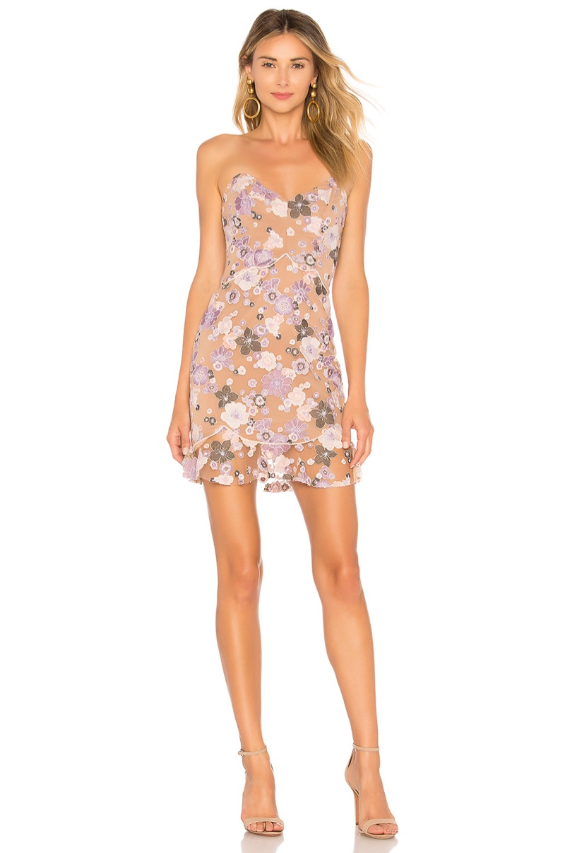 For Love & Lemons Posy Embroidery Mini Dress $334