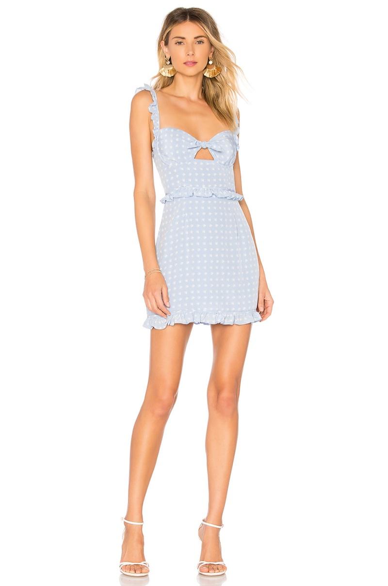For Love & Lemons Sweetheart Mini Dress $216