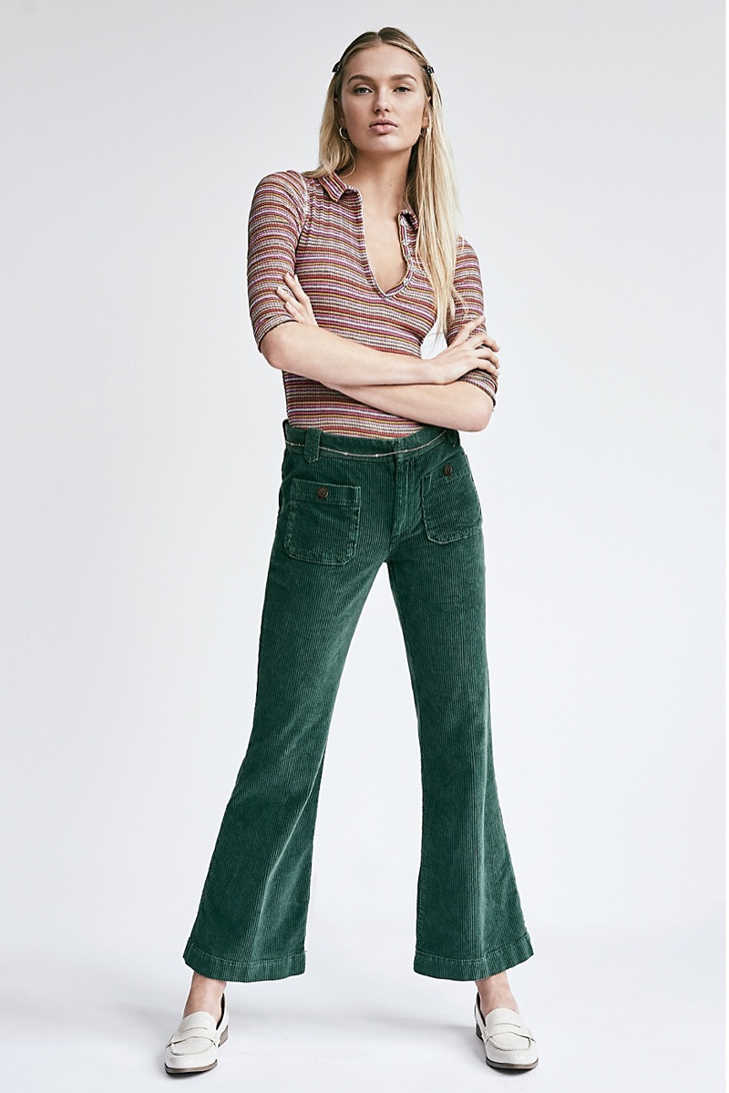 We The Free All Yours Top and Free People Hip Hugging Flare Cord Pants