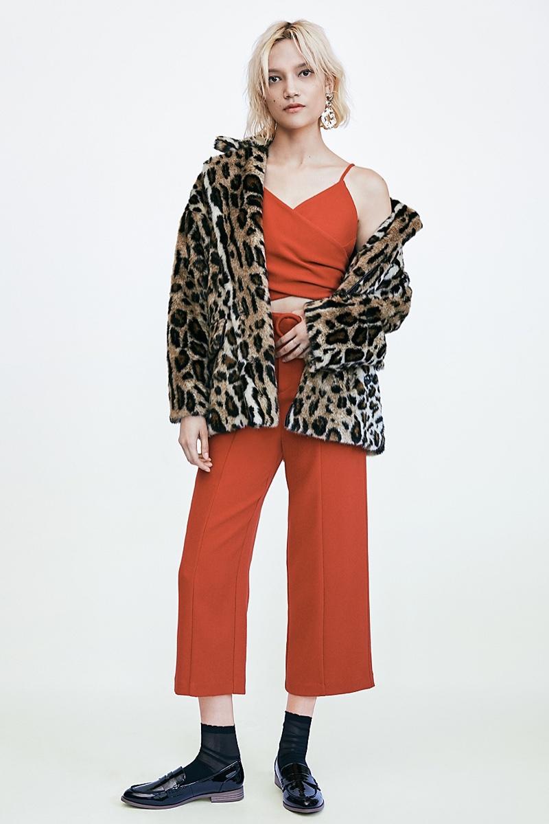Free People Kate Leopard Coat and Ali Set