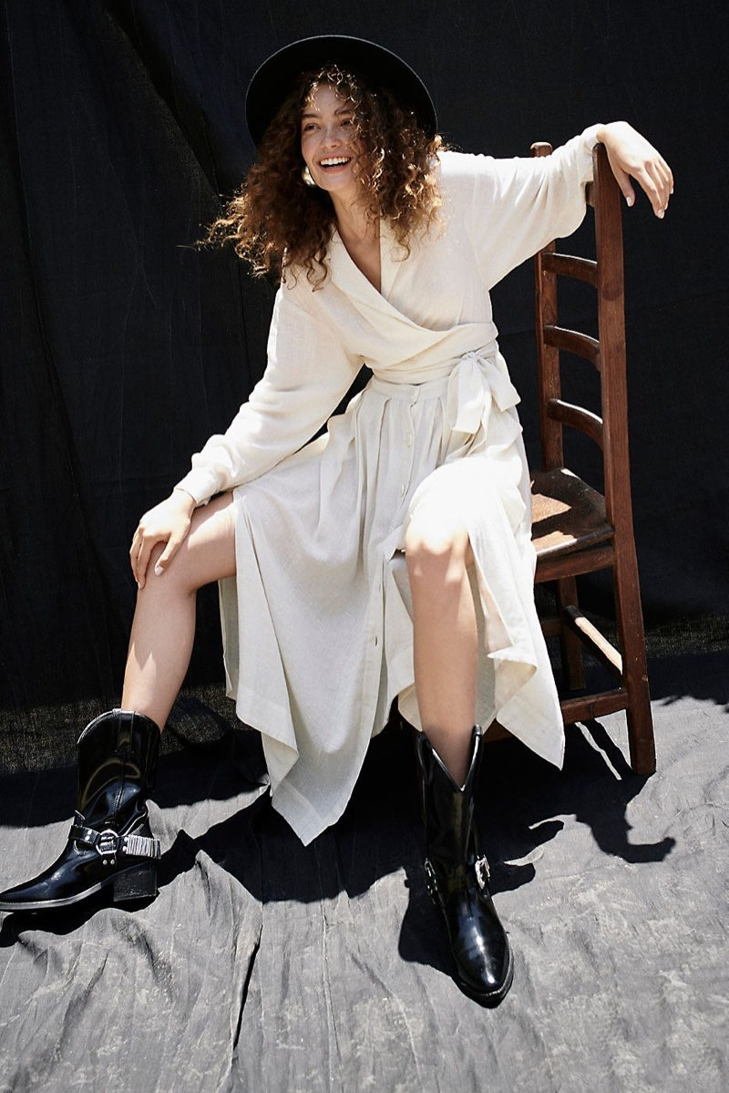 Free People Got Some Sun Midi Dress and Jeffrey Campbell Ridge Western Boot