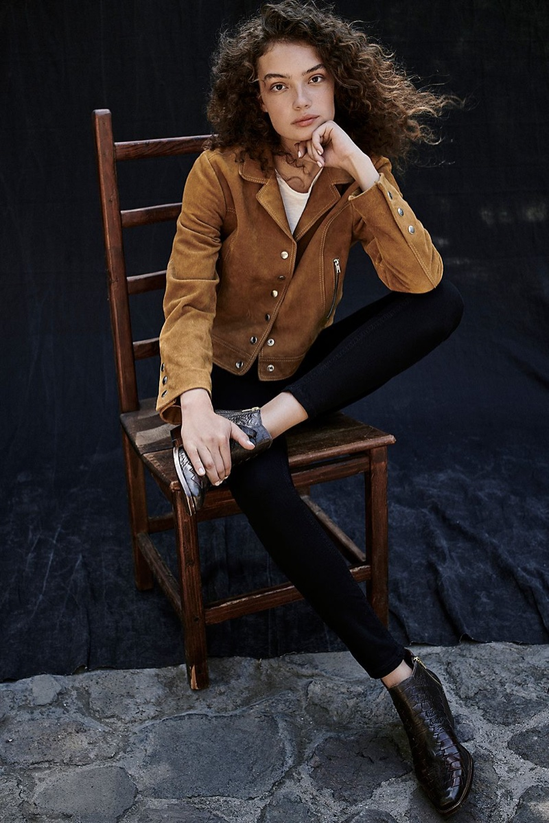 Free People Charlotte Suede Jacket and Emmett Western Boot