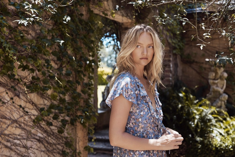 Model Gemma Ward fronts Auguste the Label Grace campaign