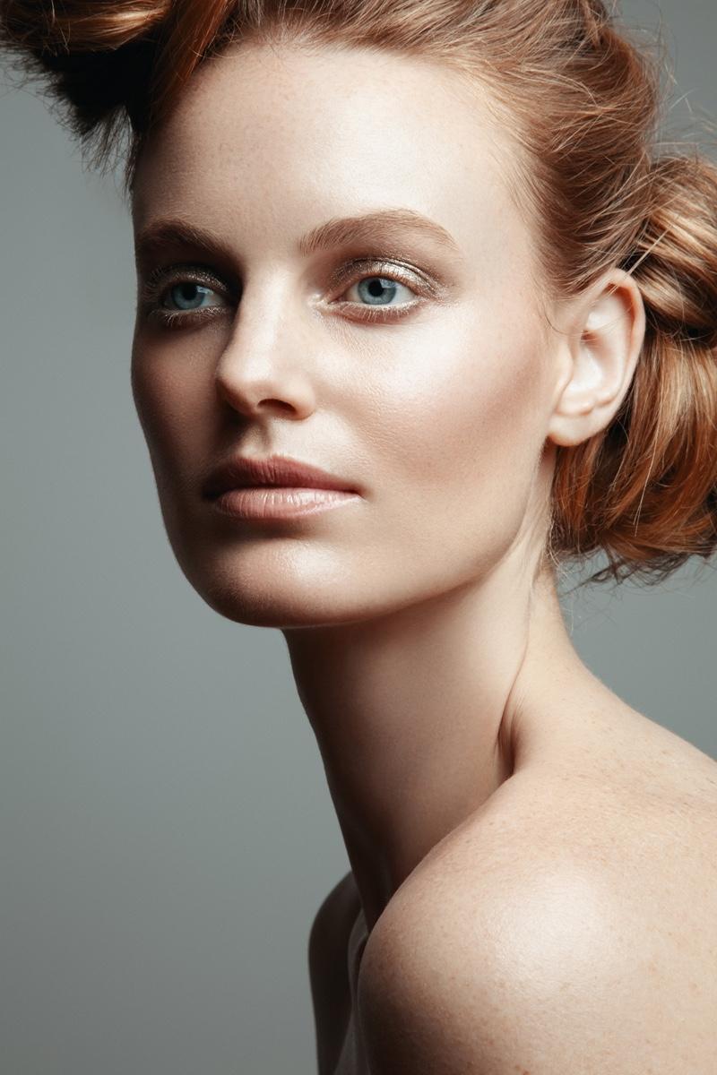 Jeff Tse photographs Georgie Wass in neutral makeup look