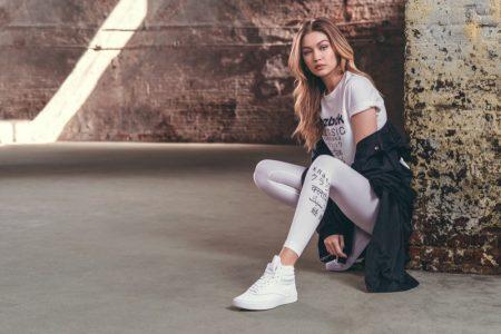 Reebok enlists Gigi Hadid for Freestyle Hi Nova sneaker campaign
