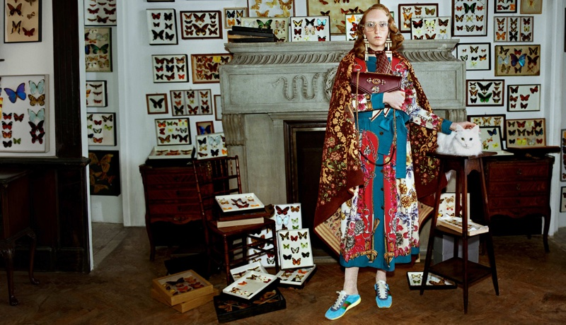 Butterfly collector featured in Gucci's fall-winter 2018 campaign