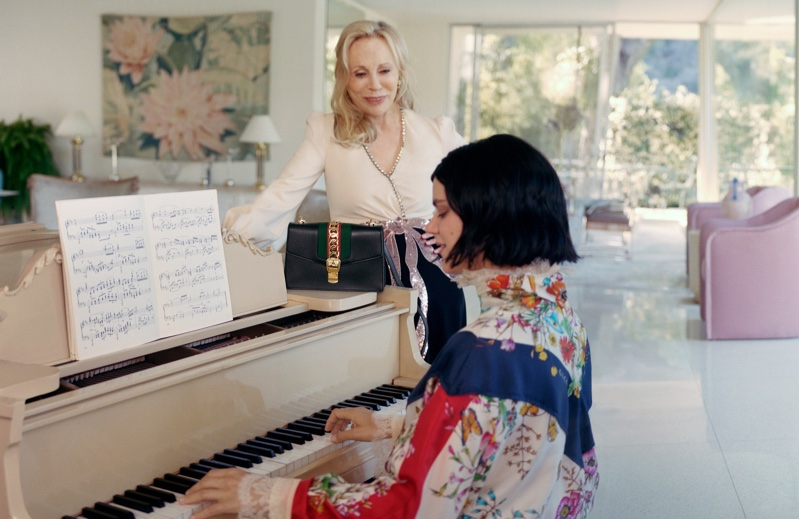 Faye Dunaway and Soko front Gucci Sylvie handbag campaign