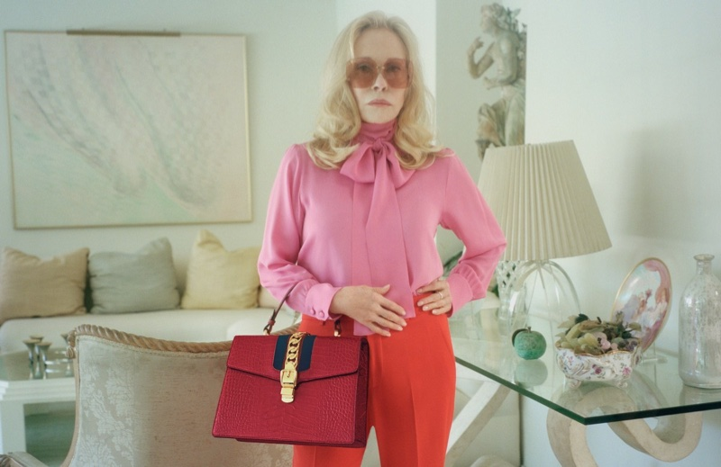 Faye Dunaway fronts Gucci Sylvie handbag campaign