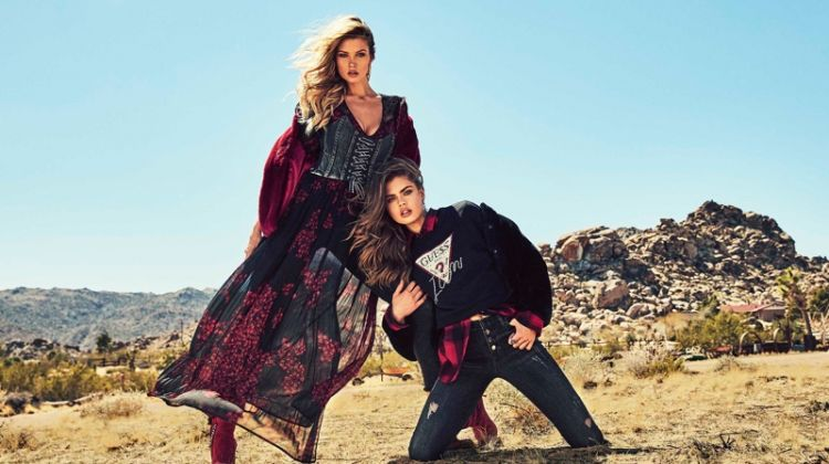Gwen Van Meir and Erin Cummins star in Guess fall-winter 2018 campaign