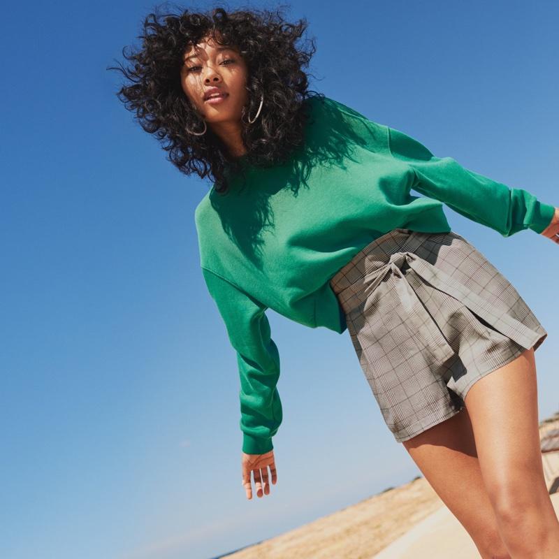 H&M Short Sweatshirt and Shorts with Tie Belt