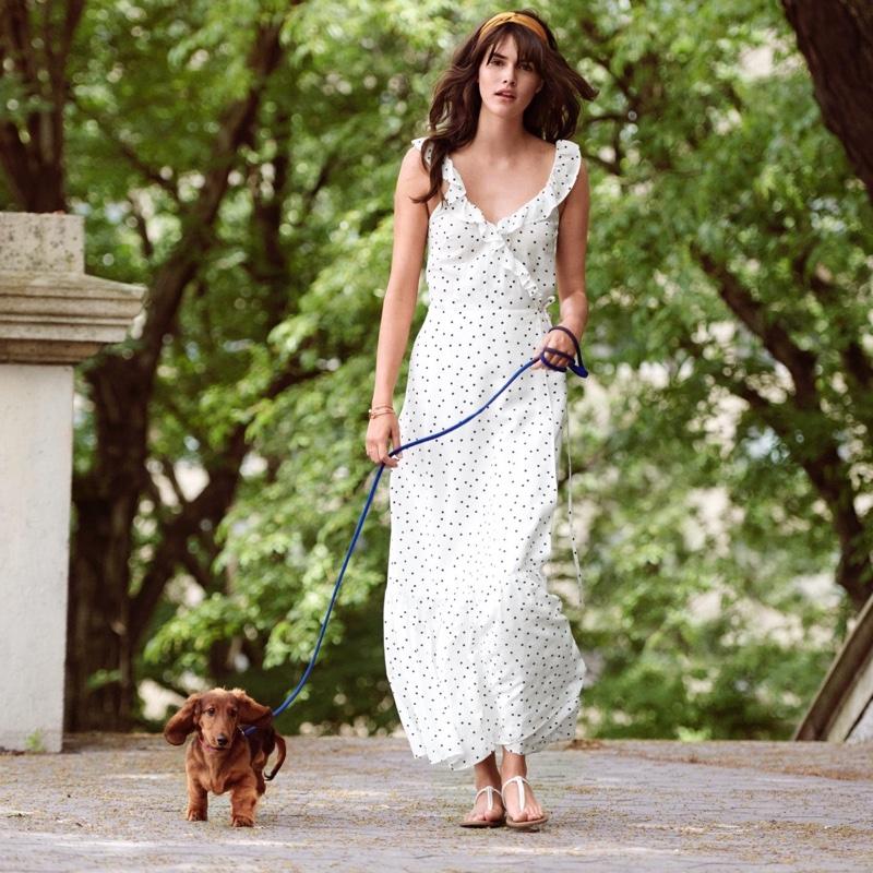 H&M Ruffled Maxi Dress
