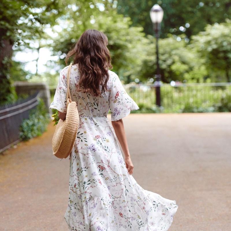 H&M Patterned Wrap Front Dress