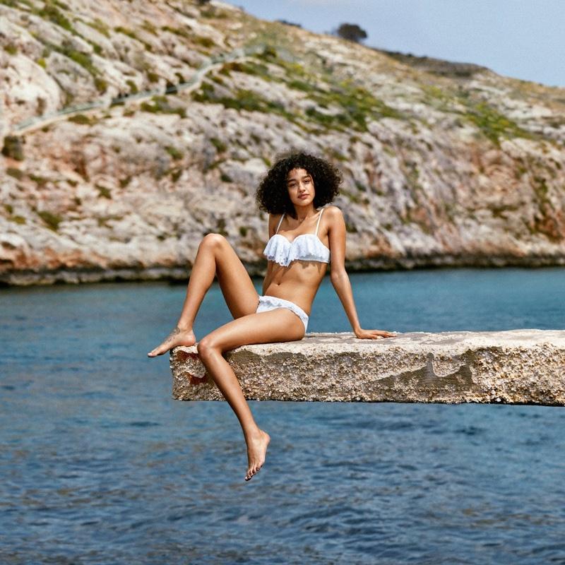 H&M Ruffled Balconette Bikini Top and Bikini Bottoms with Flounce
