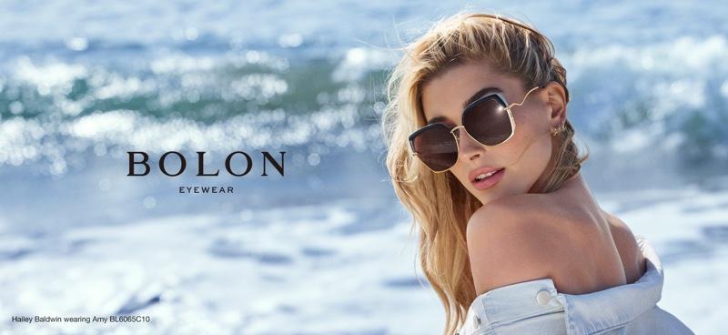 Hailey Baldwin stars in Bolon Eyewear 2018 campaign