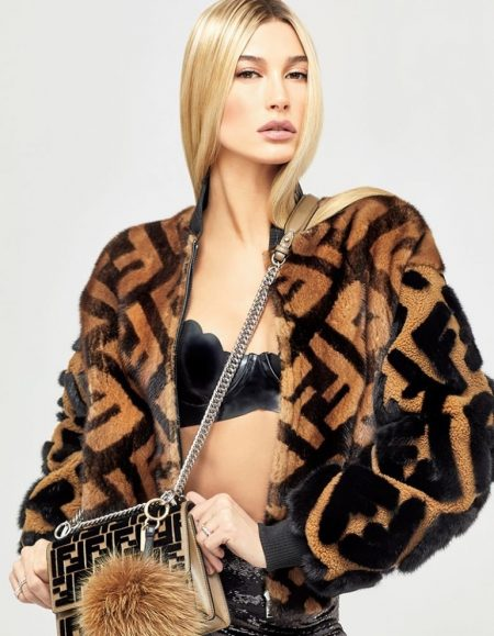 Hailey Baldwin Poses in Bold Prints for Vogue Japan