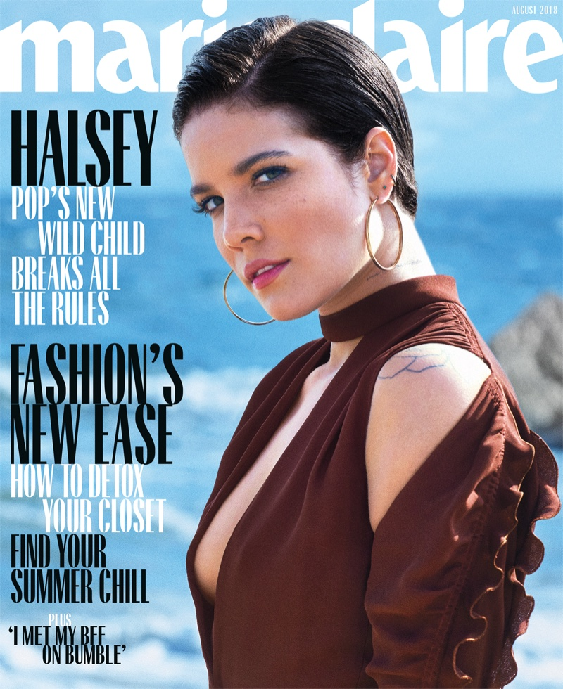 Halsey on Marie Claire US August 2018 Cover