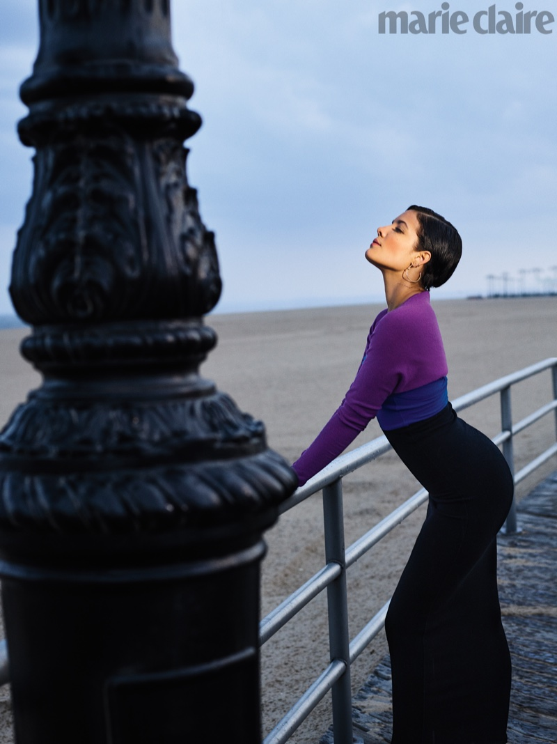Celebrity fashion photoshoot poses
