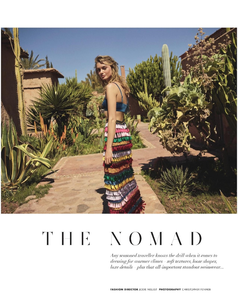 Hanna Verhees Models Sunny Boho Styles for Hello! Fashion