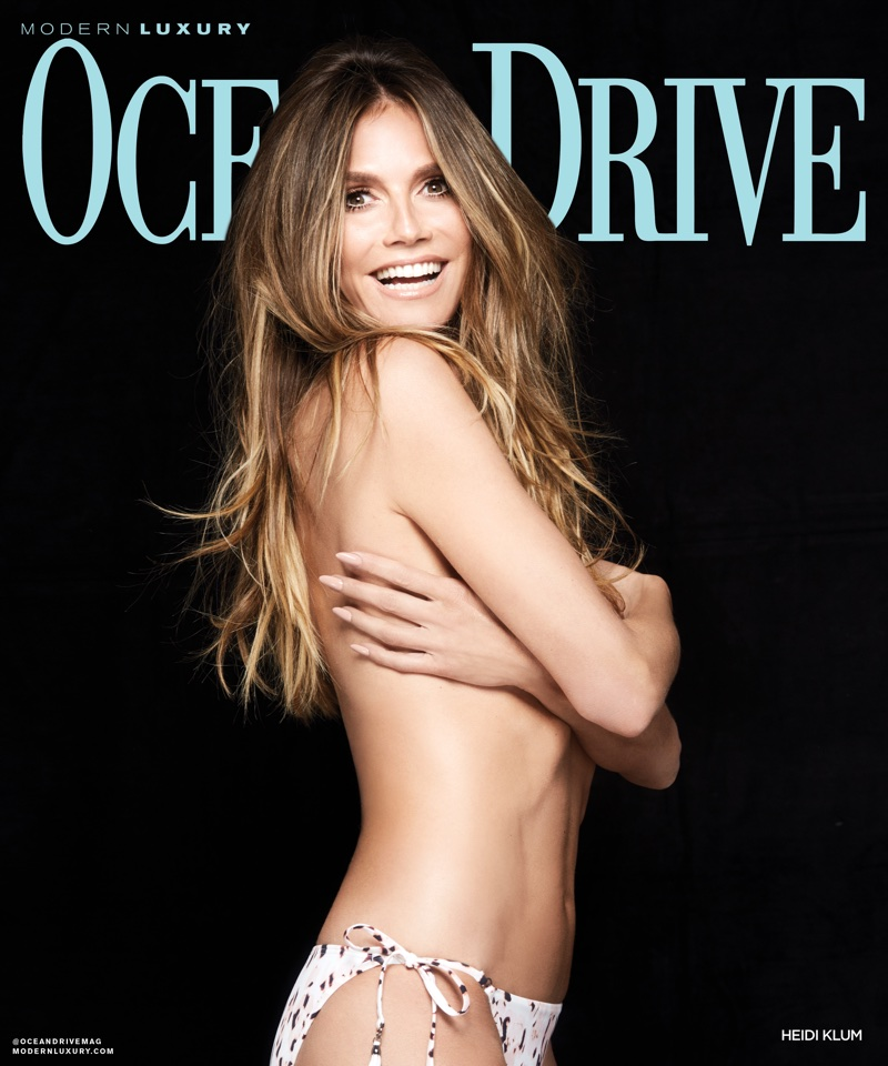 Heidi Klum on Ocean Drive Magazine July 2018 Cover