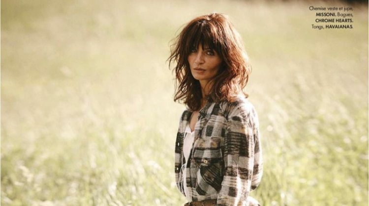 Helena Christensen is A Countryside Beauty in ELLE France