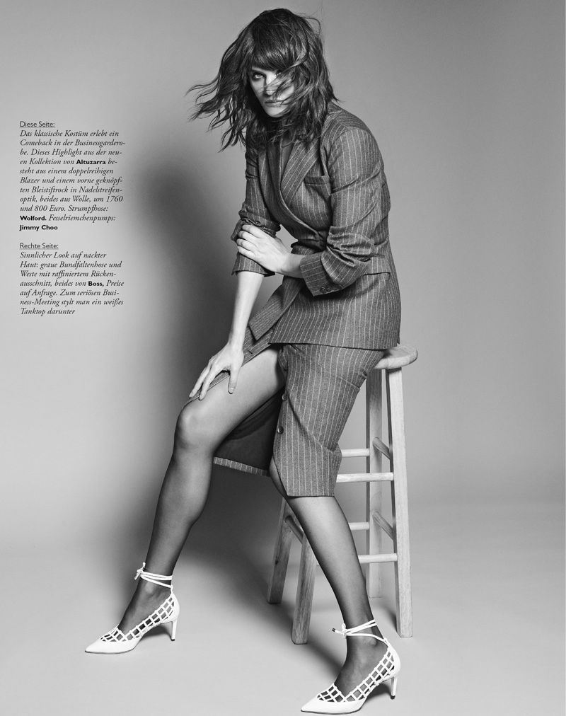 Helena Christensen Poses in Chic Looks for Madame Germany