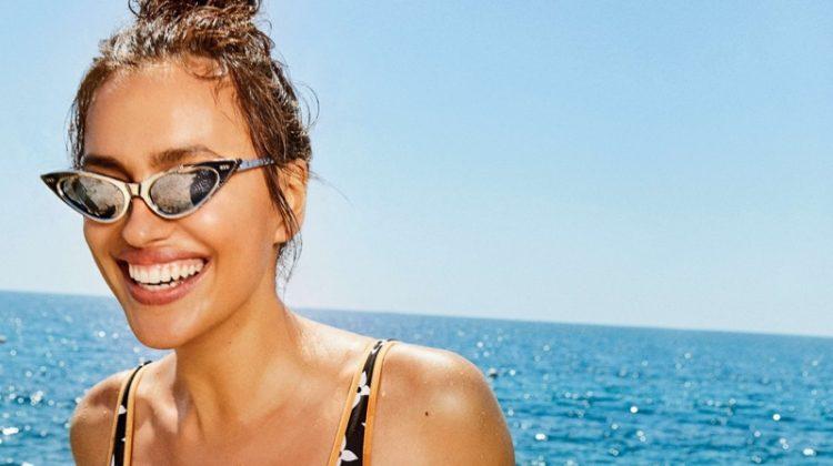 Irina Shayk Models Swimsuit Season Styles for ES Magazine