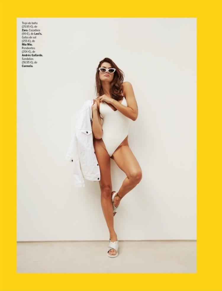 Isabeli Fontana Models All-White Looks for Yo Dona Spain