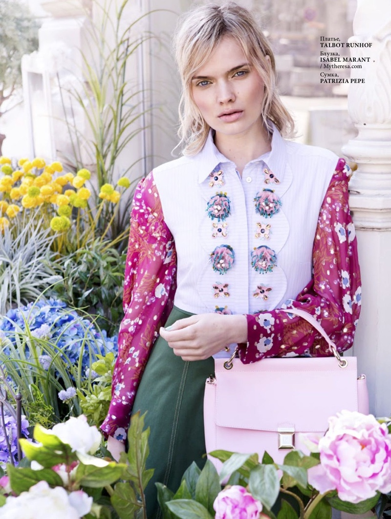 Jane Van Kuijck Blooms in Floral Prints for L'Officiel Baltics