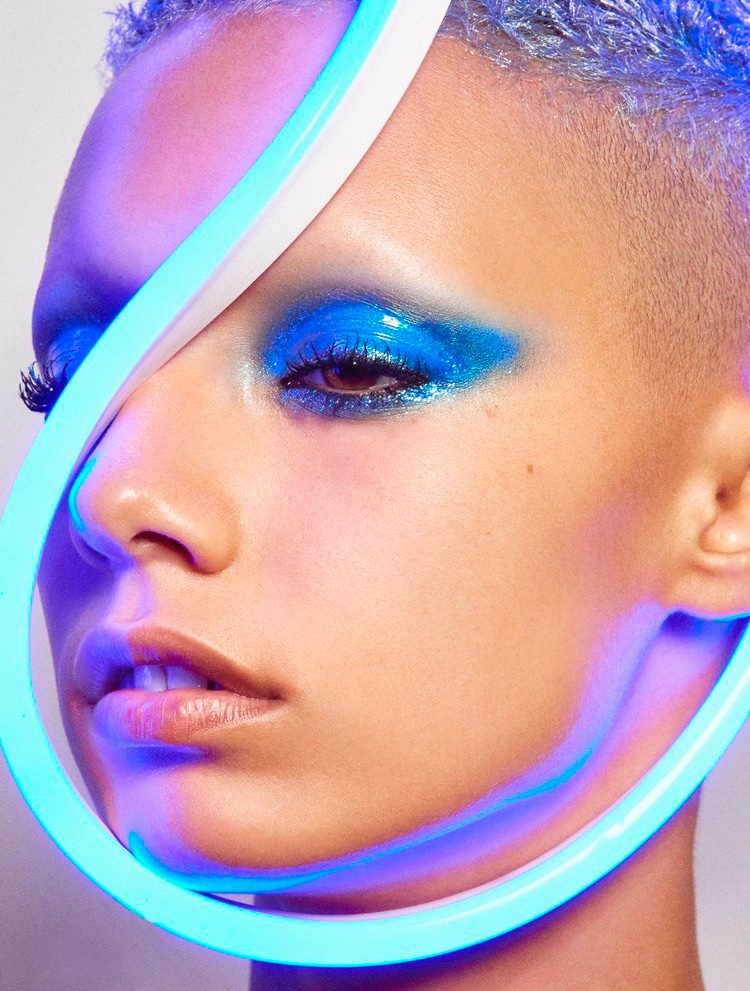 Jazzelle Zanaughtti Wears Neon Beauty Looks for Vogue Mexico