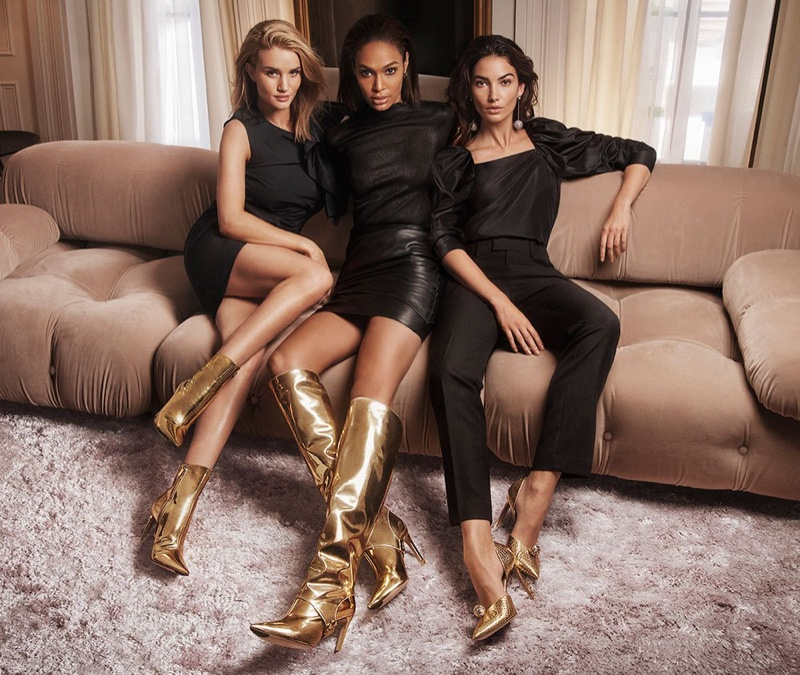 Rosie Huntington-Whiteley, Joan Smalls and Lily Aldridge star in Jimmy Choo fall-winter 2018 campaign