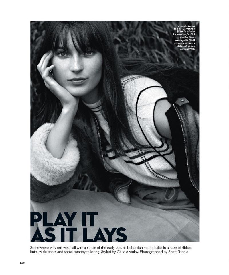 Julia Bergshoeff Channels 1970's Style for Vogue Australia